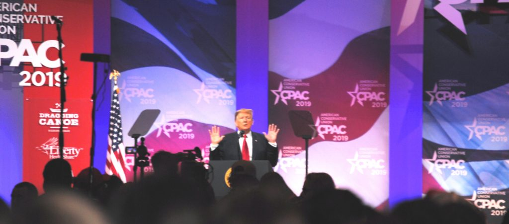 President Trump at CPAC 2019 - credit Michael Vass